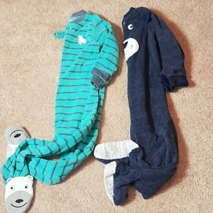 Carters bundle of 2 footed pajamas size 24 months